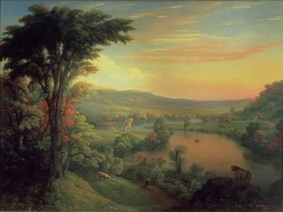 View of the Mohawk Near Little Falls, 1854
