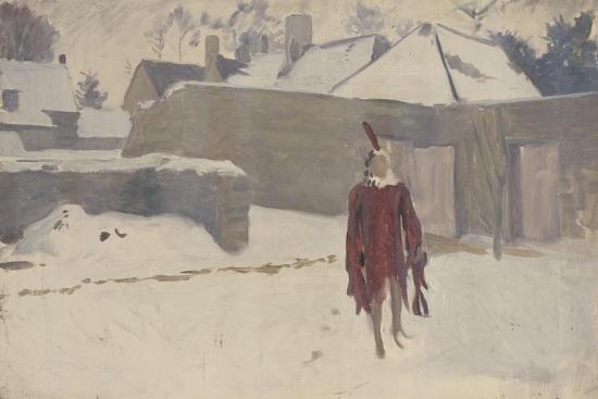Mannikin in the Snow, c.1893-5-John Singer Sargent-Giclee Print