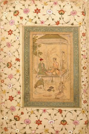 Akbar's Sons Sultan Daniyal and Sultan Murad, C.1600-1605 (W/C and Gold Paint on Paper)