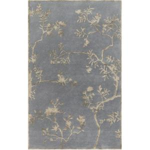 Manor Floral Area Rug - Gray/Mocha 5' x 8'