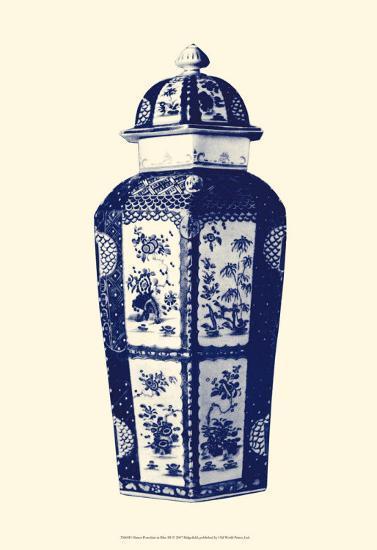 Manor Porcelain in Blue III--Art Print