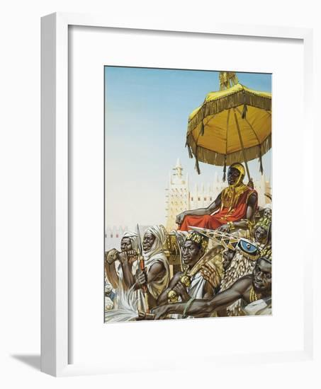 Mansa Kankan Musa I, 14th Century King of the Mali Empire-Mcbride-Framed Giclee Print