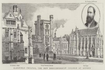 Mansfield College, the New Nonconformist College at Oxford-Henry William Brewer-Giclee Print