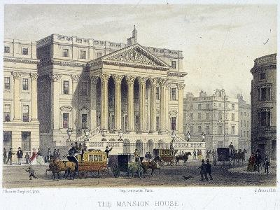 Mansion House (Exterior), London, 1854-Jules Louis Arnout-Giclee Print