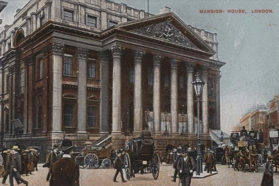 Mansion-House, London--Photographic Print