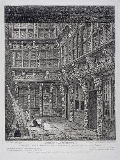 Mansion of Sir Richard (Dic) Whittington in Hart Street, Crutched Friars, London, 1812-John Thomas Smith-Giclee Print