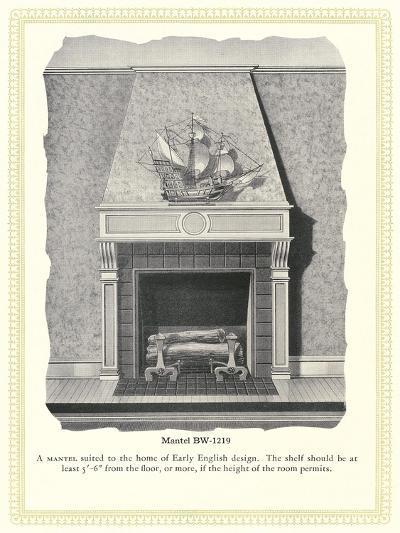Mantel Treatment--Art Print