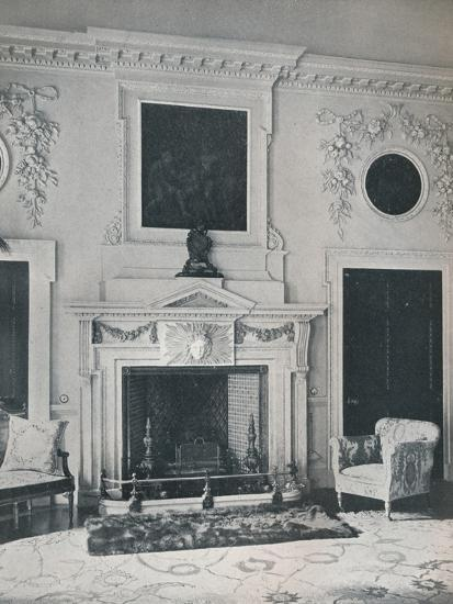 Mantelpiece in the State Drawing-Room, 1916-Unknown-Photographic Print
