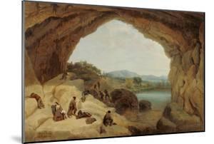 Ambushing a Group of Bandits at the Cueva Del Gato by Manuel Barrón y Carrillo