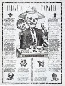 Calavera Tapatia, Published 1910 by Manuel Manilla