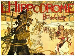 L'Hippodrome, Boulevard De Clichy by Manuel Orazi