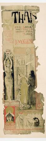 Poster Advertising 'Thais', C.1895