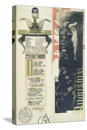 """The Black Mass, the Month of August for a Magic Calendar Published in """"Art Nouveau"""" Review, 1896"""