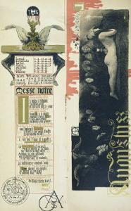 """The Black Mass, the Month of August for a Magic Calendar Published in """"Art Nouveau"""" Review, 1896 by Manuel Orazi"""