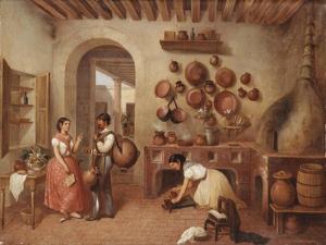 In the Kitchen of the Hacienda by Manuel Serrano