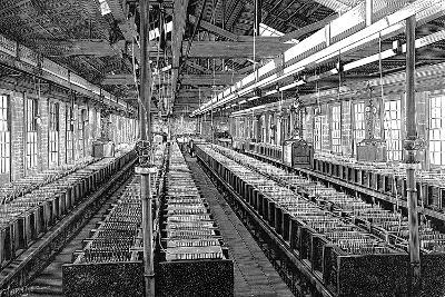 Manufacture of Electric Batteries, USA, 1887--Giclee Print