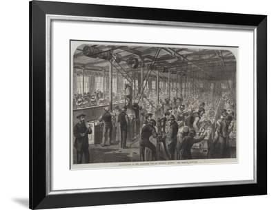 Manufacture of the Armstrong Gun at Woolwich Arsenal, the Beehive--Framed Giclee Print