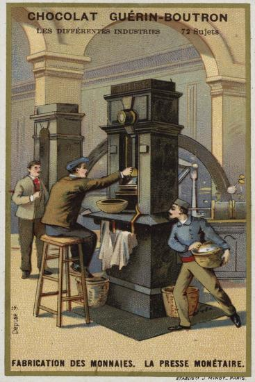 Manufacturing Coins, Coin Press--Giclee Print