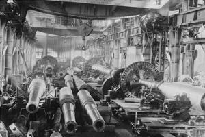Manufacturing Floor for Large Naval Guns