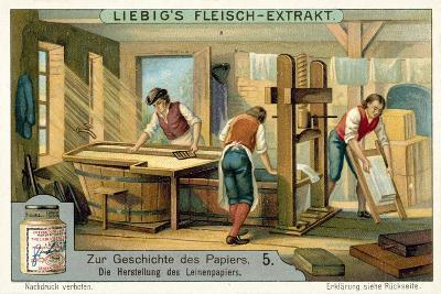 Manufacturing Linen Paper--Giclee Print