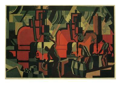 Manufacturing Men, 1928--Giclee Print