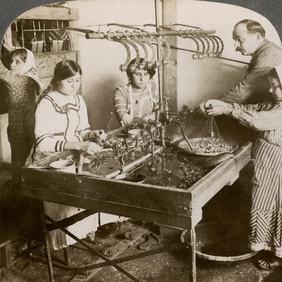 Manufacturing Silk, Syria, 1900s-Underwood & Underwood-Giclee Print