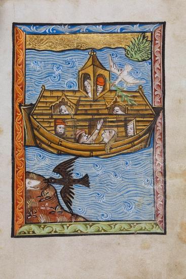 Manuscript Illumination of Noah's Ark--Giclee Print