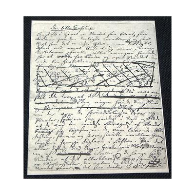 "Manuscript of ""The Little Mermaid"" by Hans Christian Andersen (1805-187)--Giclee Print"