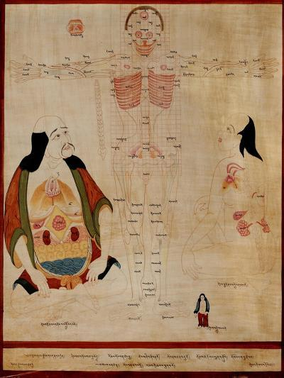 Manuscript Showing the Meridian Points--Giclee Print