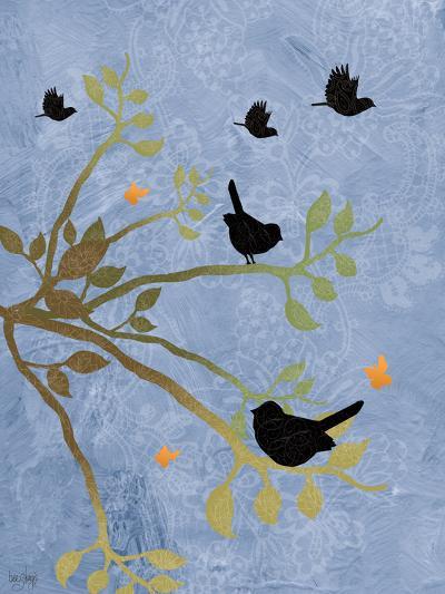 Many Birds on Branches-Bee Sturgis-Art Print