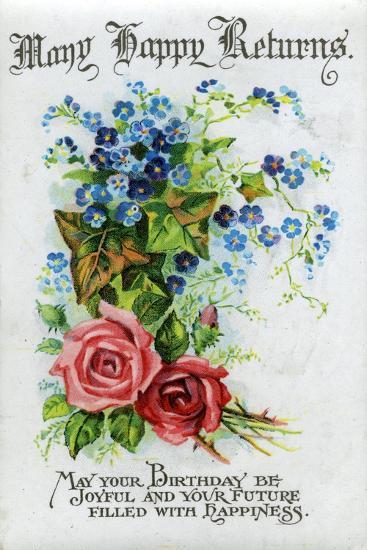 Many Happy Returns, Birthday Card, C1921--Giclee Print