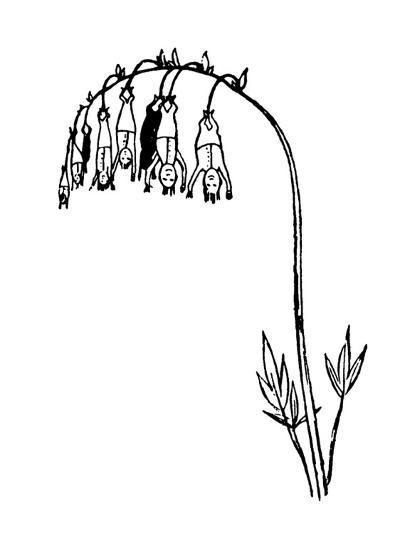 Manypeeplia Upsidownia-Edward Lear-Premium Giclee Print