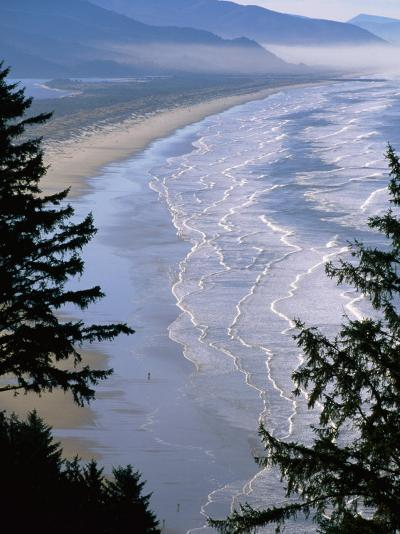 Manzanita Beach, Seen from Neahkahnie Mountain, Oregon-John Elk III-Photographic Print