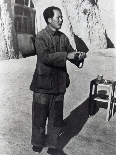 Mao Tse-Tung in His Mountain Stronghold, Yenan, 1942--Photographic Print