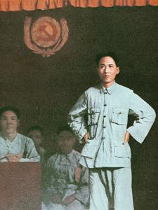 Mao Zedong Addressing an International Communist Conference in Kiangsi Province, 1933