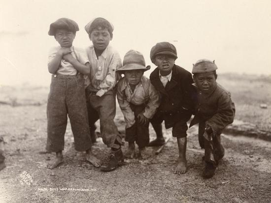 Maori Boys, Whakarewarewa, c.1910-Ralph Seldon-Giclee Print