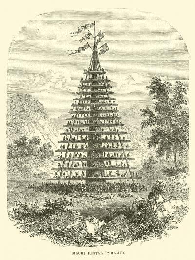 Maori Festal Pyramid--Giclee Print