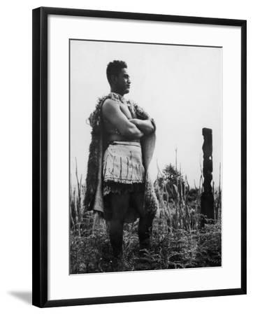 Maori Man--Framed Photographic Print