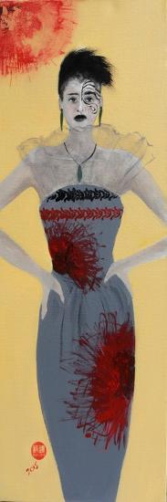 Maori Women in Grey Dress, 2015-Susan Adams-Giclee Print