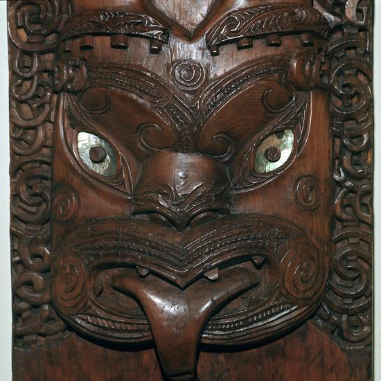 Maori wood-carving representing an ancestor-Unknown-Giclee Print
