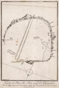 Map and Plan of the Port of Alexandre, Egypt
