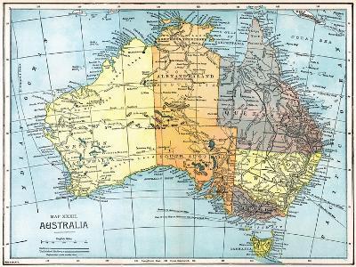 Map: Australia, C1890--Giclee Print