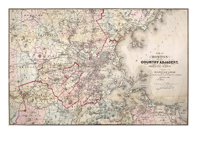 Map: Boston, 1883- Cupples, Upham & Co.-Giclee Print