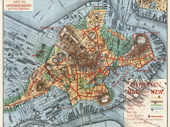 Map: Boston, c1880-Justin Winsor-Giclee Print
