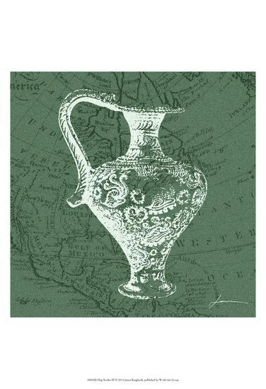 Map Bottles III-James Burghardt-Art Print