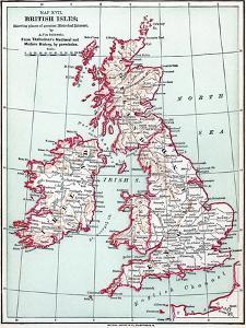 Map: British Isles, C1890