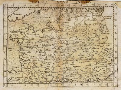 Map by Vincenzo Valgrisi, According to Ptolemy's Geography, Venice, 1561--Giclee Print