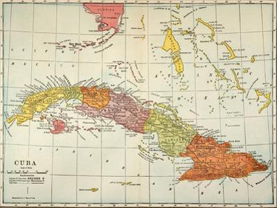 Map: Cuba, 1900