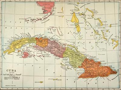 graphic regarding Printable Map of Cuba titled Map: Cuba, 1900 Giclee Print through