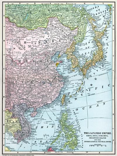 Map: East Asia, 1907--Giclee Print